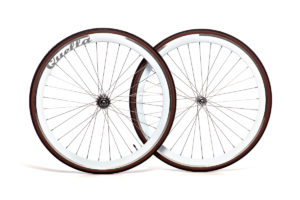 Quella White 40mm Deep-V 700c Complete Wheelset