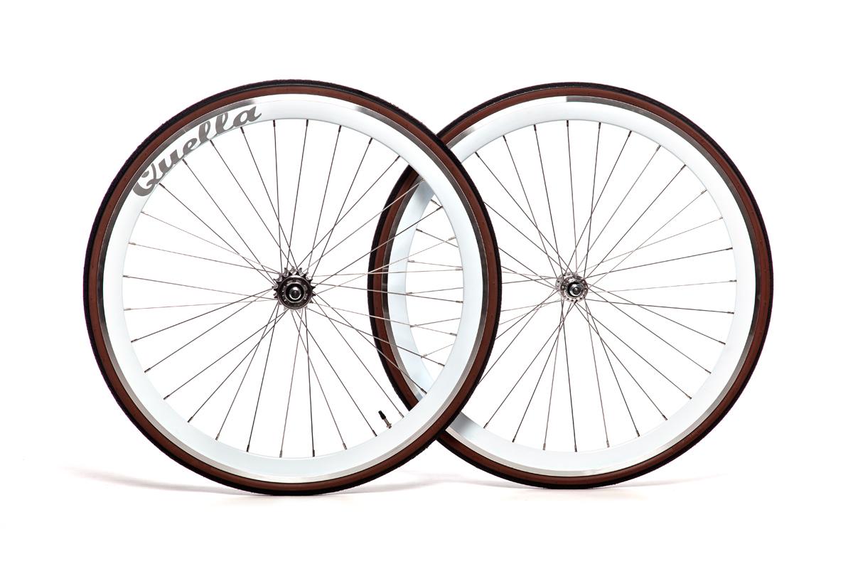 Quella White 40mm Deep-V 700c Complete Wheelset