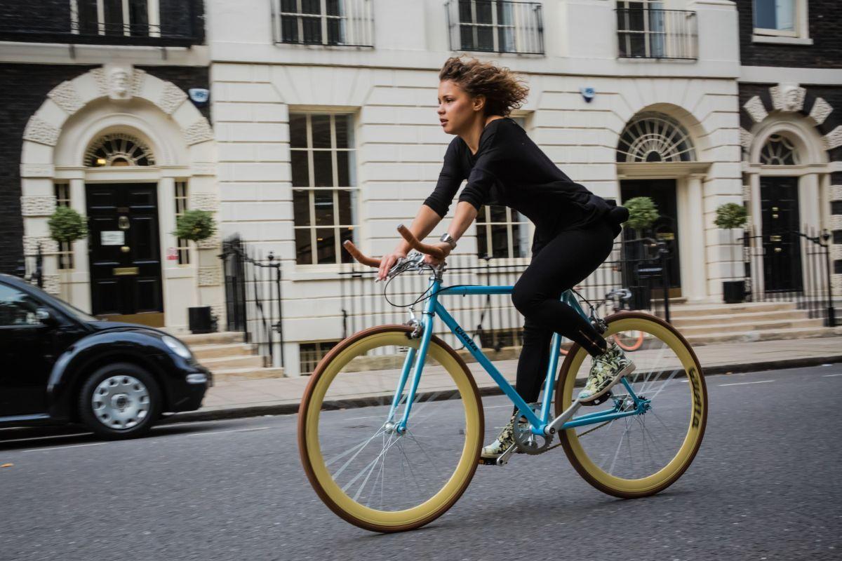Light Blue Fixie: Cambridge / Nero