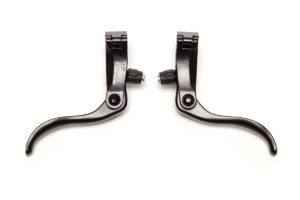 Black Aluminium 2 finger brake lever set