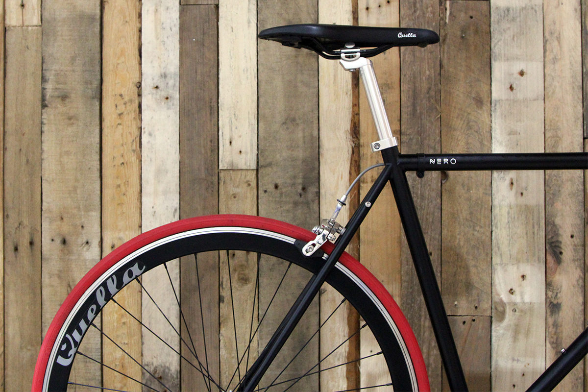 Nero red and black back wheel