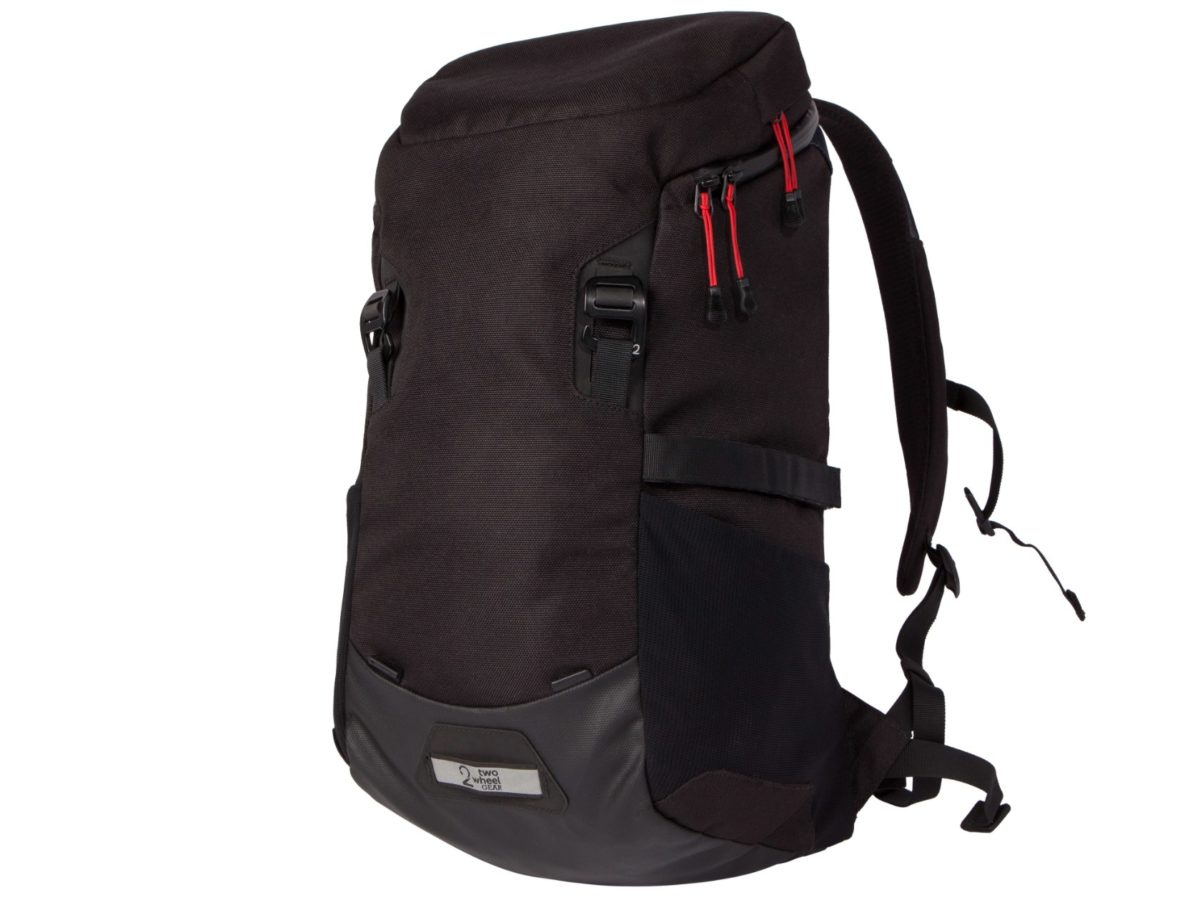 Two Wheel Gear – Bike Commute Backpack – Black – Front
