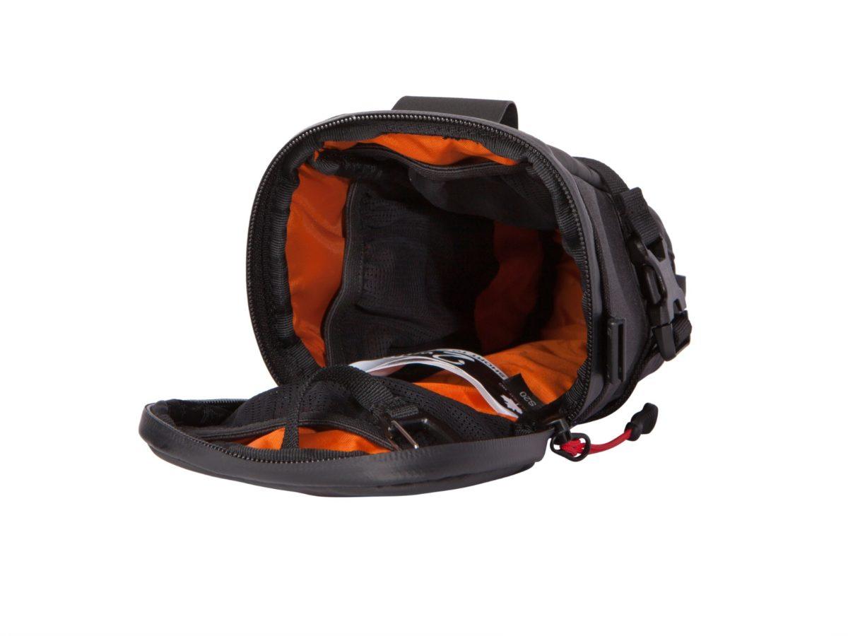 Two Wheel Gear – Bike Commute Seat Pack – Black – Open Empty