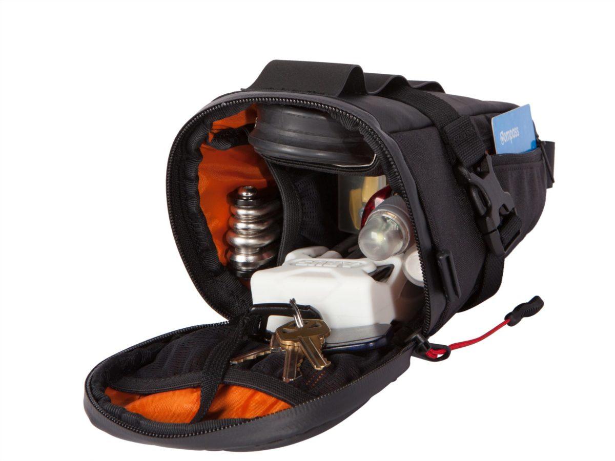 Two Wheel Gear – Bike Commute Seat Pack – Black – Open Packed