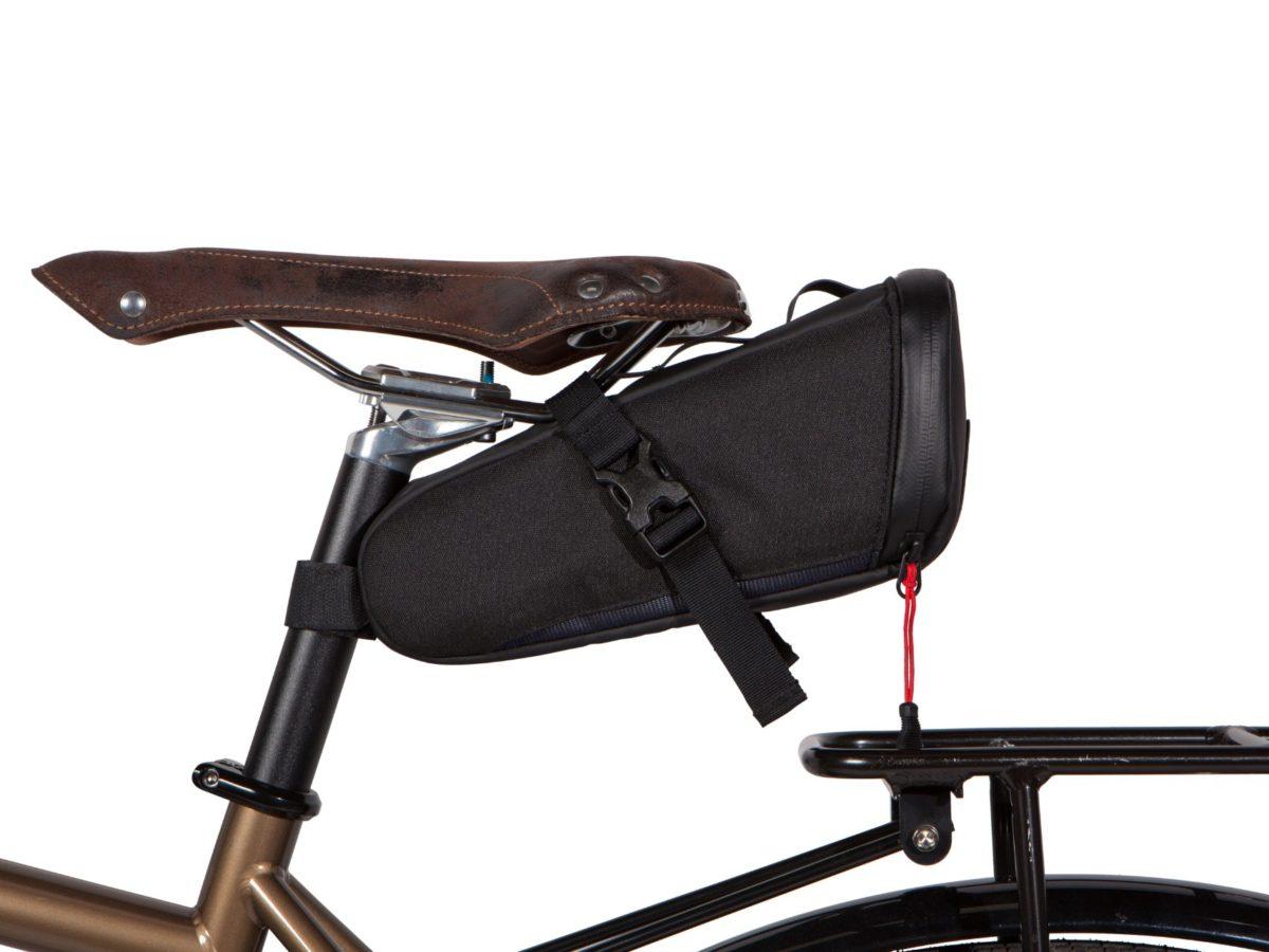 Two Wheel Gear – Bike Commute Seat Pack – Black-on bike-side
