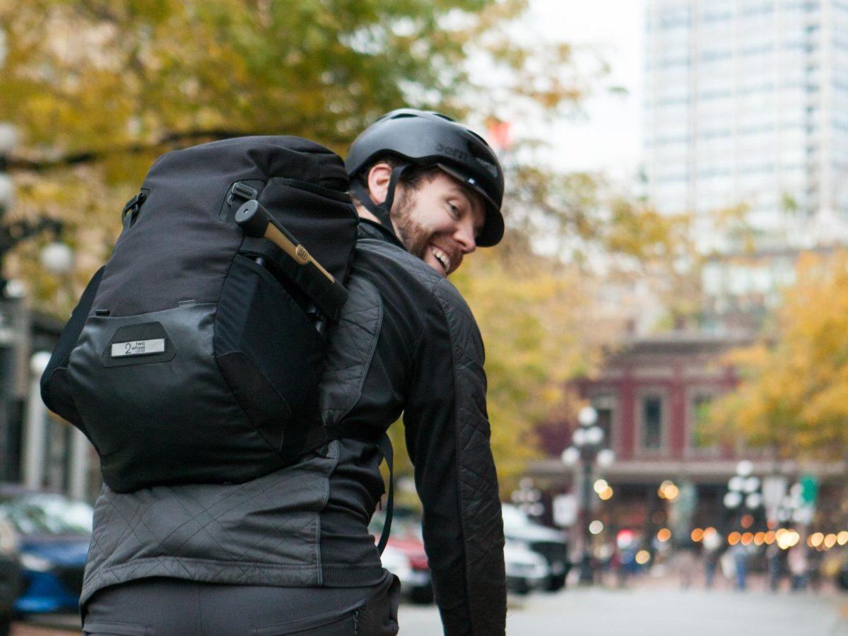 Two Wheel Gear – Commute Backpack – Black – Bike Commuter