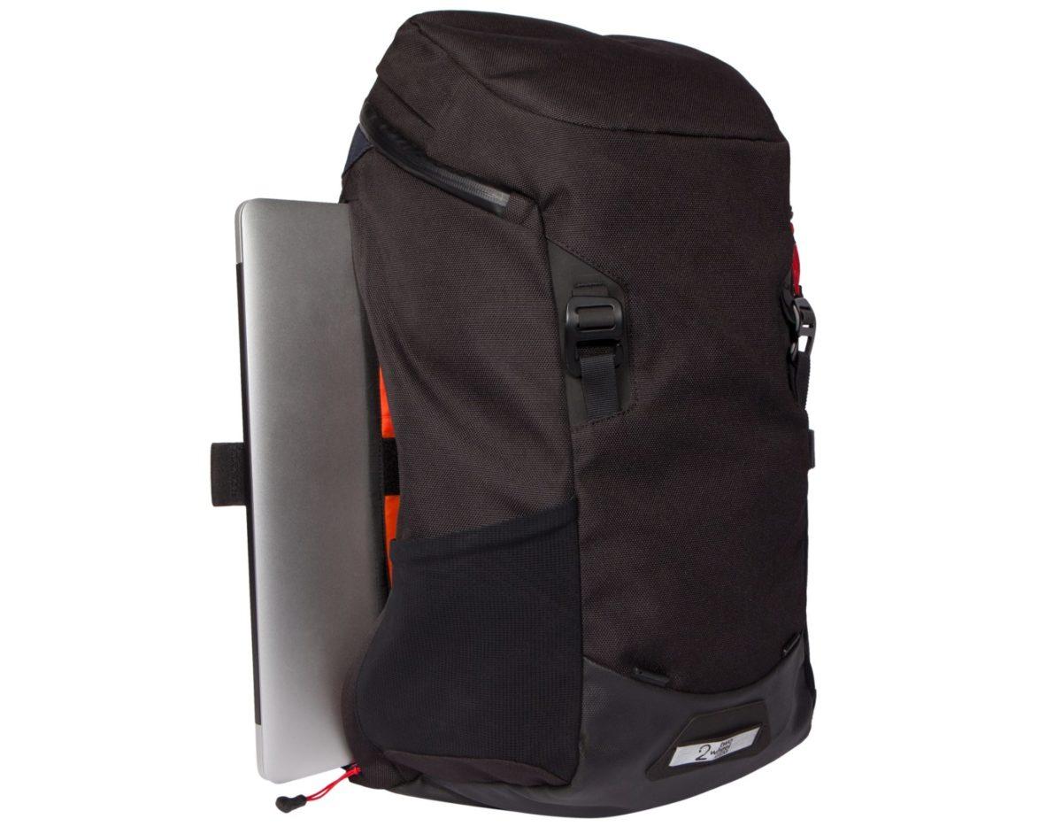 Two Wheel Gear – Commute Backpack – Black-side-laptop