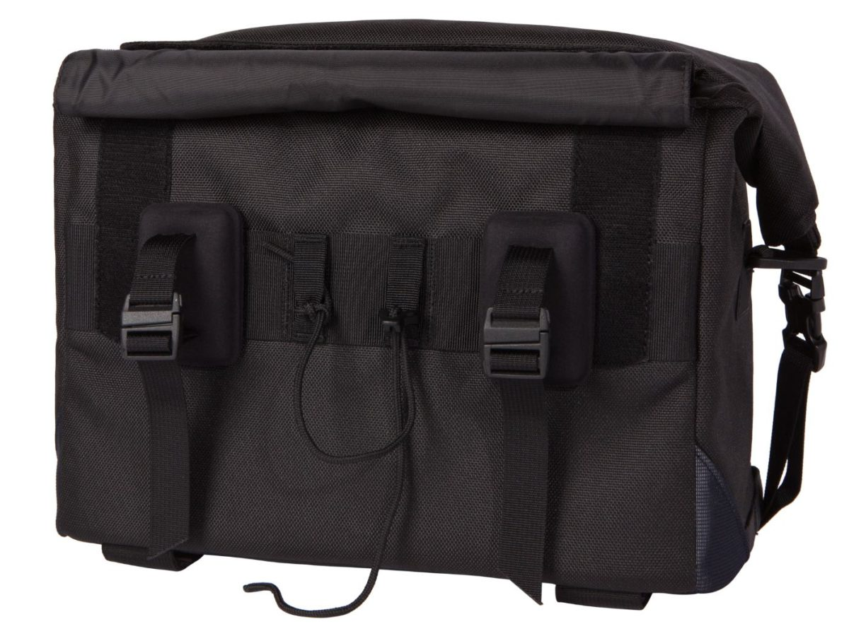 Two Wheel Gear – Dayliner Box Bag – Black – Back – Handlebar Mounts