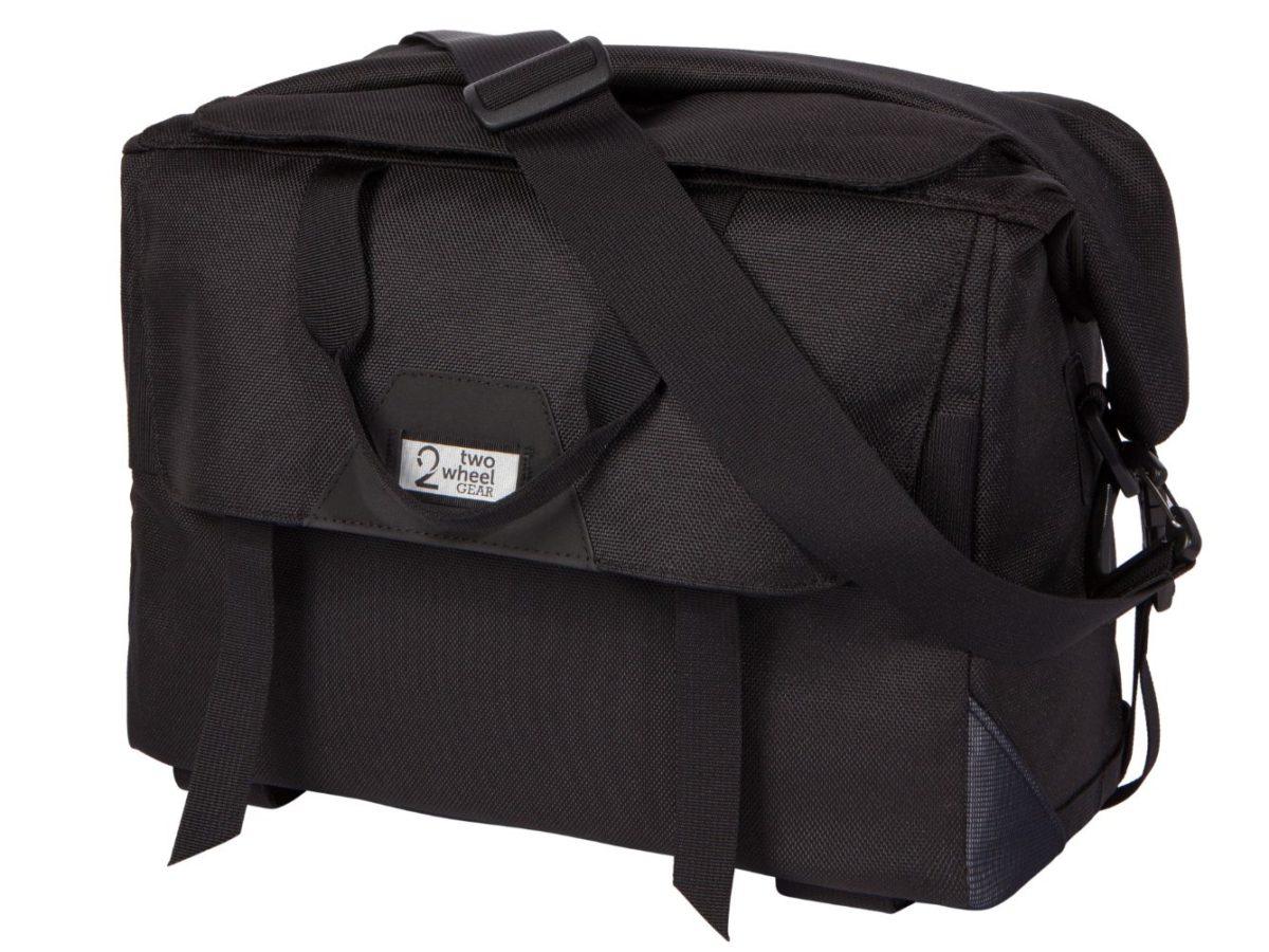 Two Wheel Gear – Dayliner Box Bag – Black-back-closed