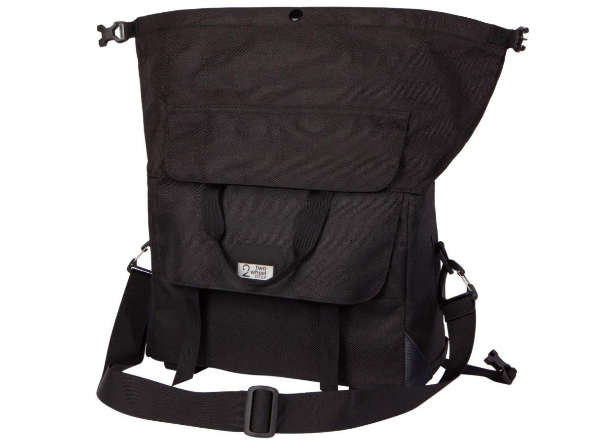 Two Wheel Gear – Dayliner Box Bag – Black-back-open
