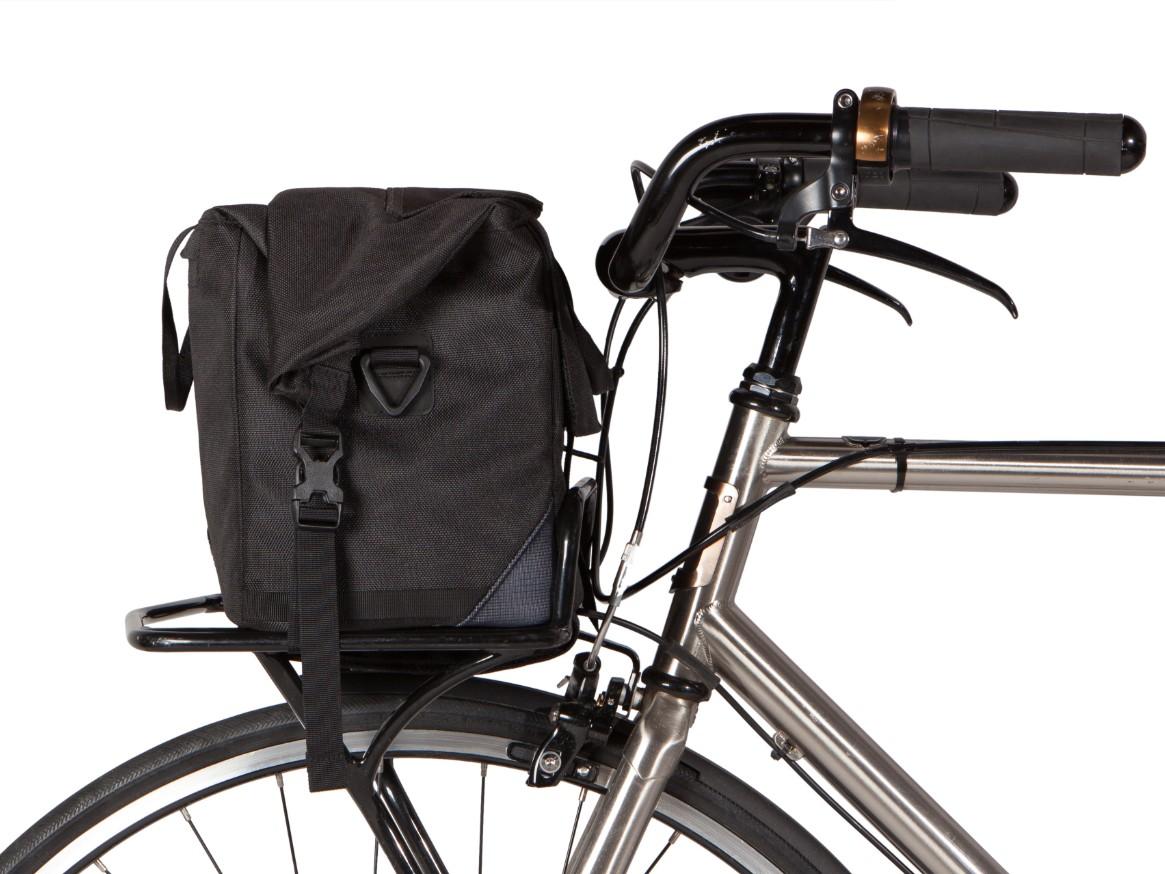 Two Wheel Gear – Dayliner Box Bag – Black-on bike-front rack