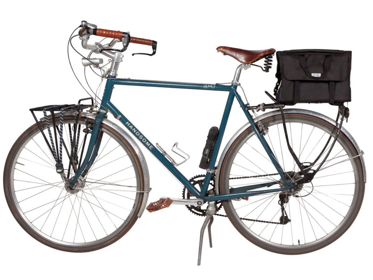 Two Wheel Gear – Dayliner Box Bag – Black-on bike-trunk