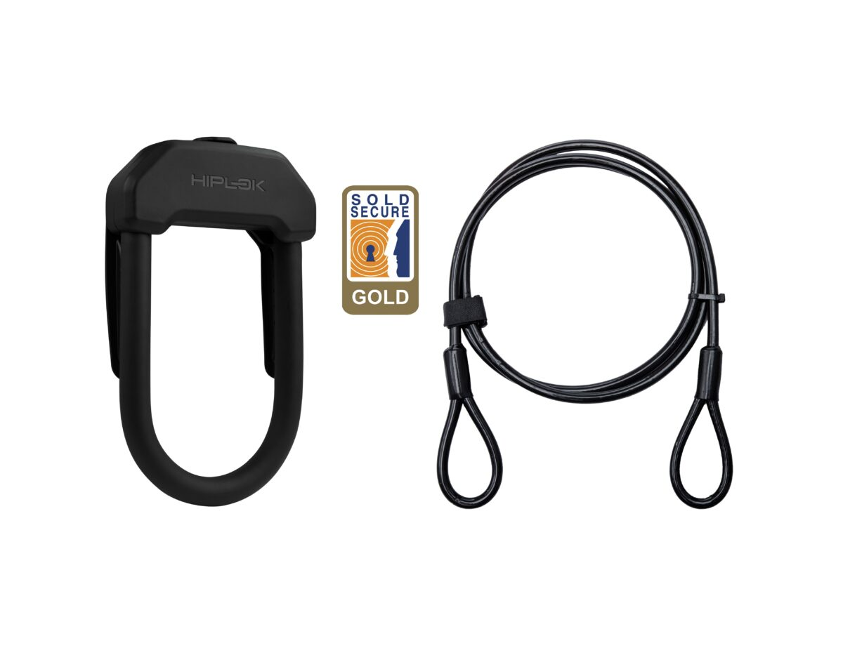 Hiplok DX+ D-lock and 2m cable 4